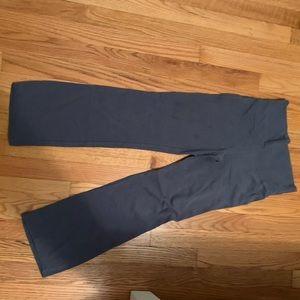 Grey bell bottom leggings.